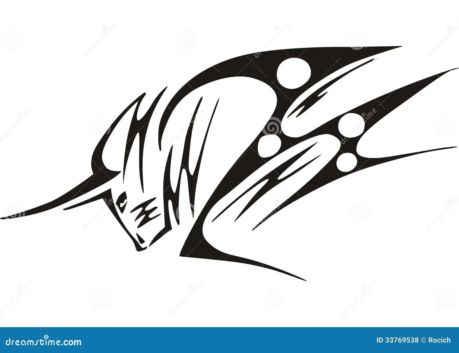 Tatuaje de Bull ilustración del vector. Ilustración de