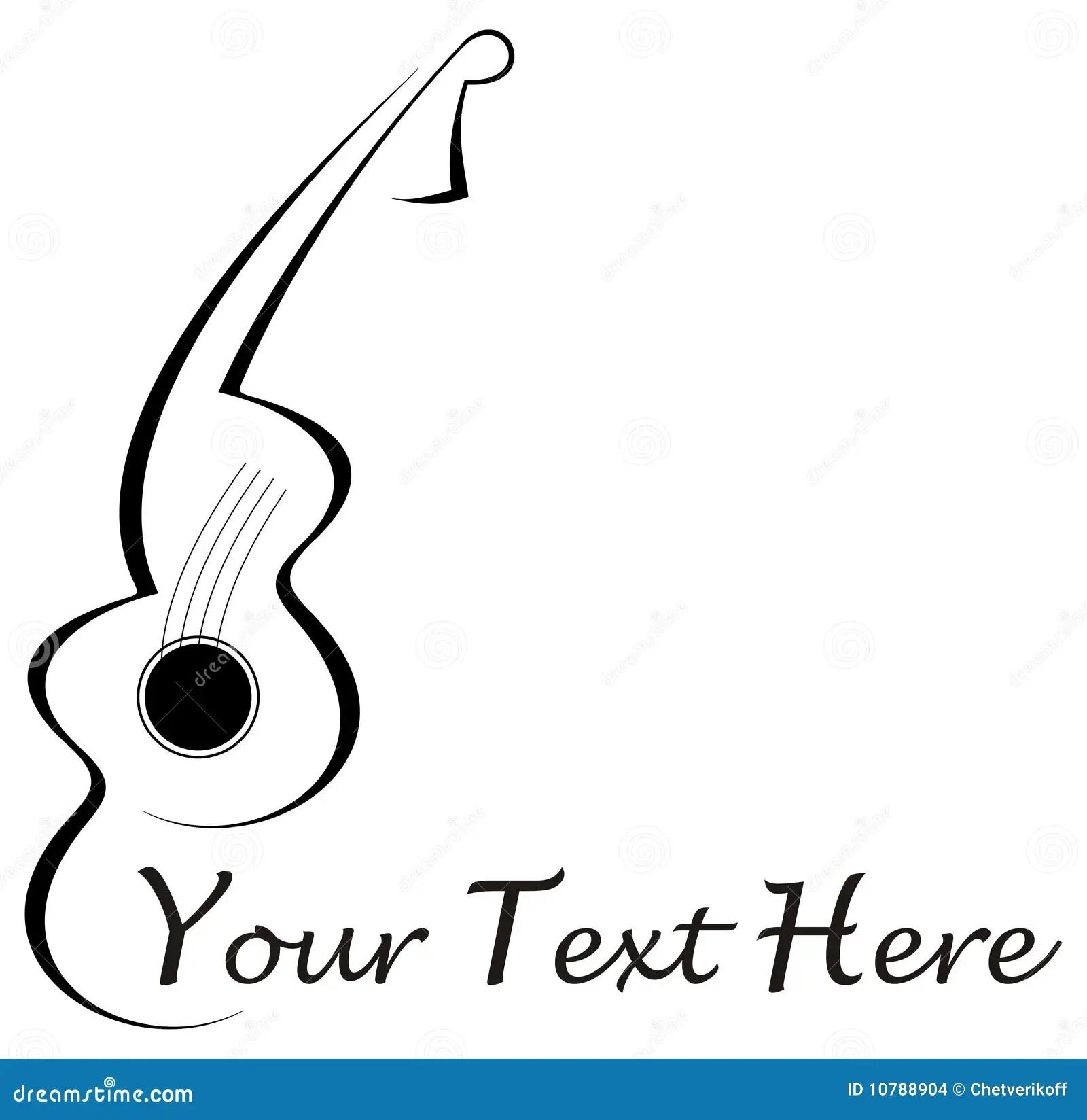 Tatuaje de la guitarra ilustración del vector. Ilustración