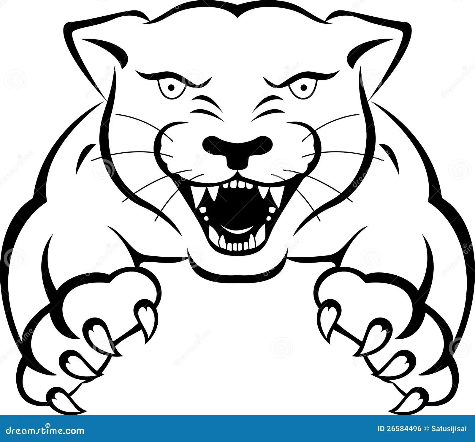 Tatuaje de la pantera stock de ilustración. Ilustración de