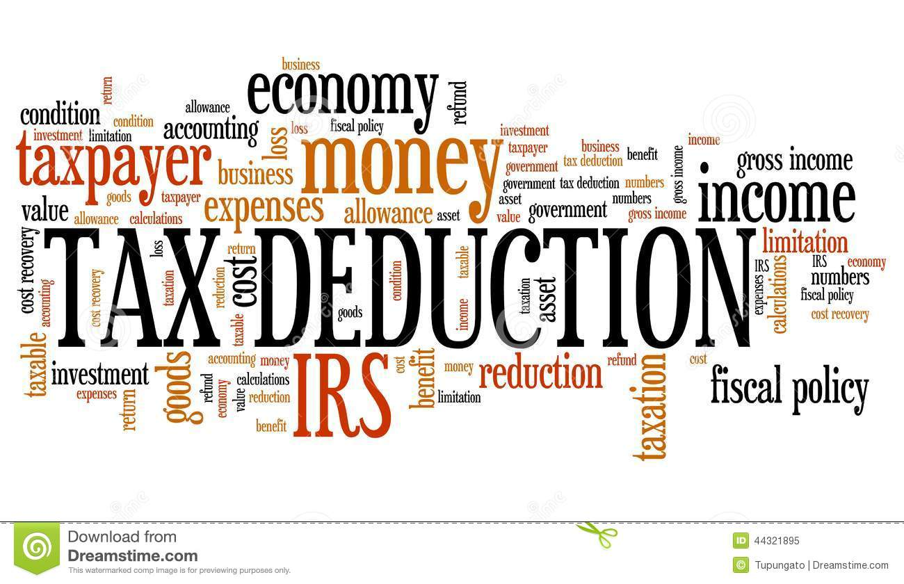 Tax Deduction Stock Illustration Illustration Of Income