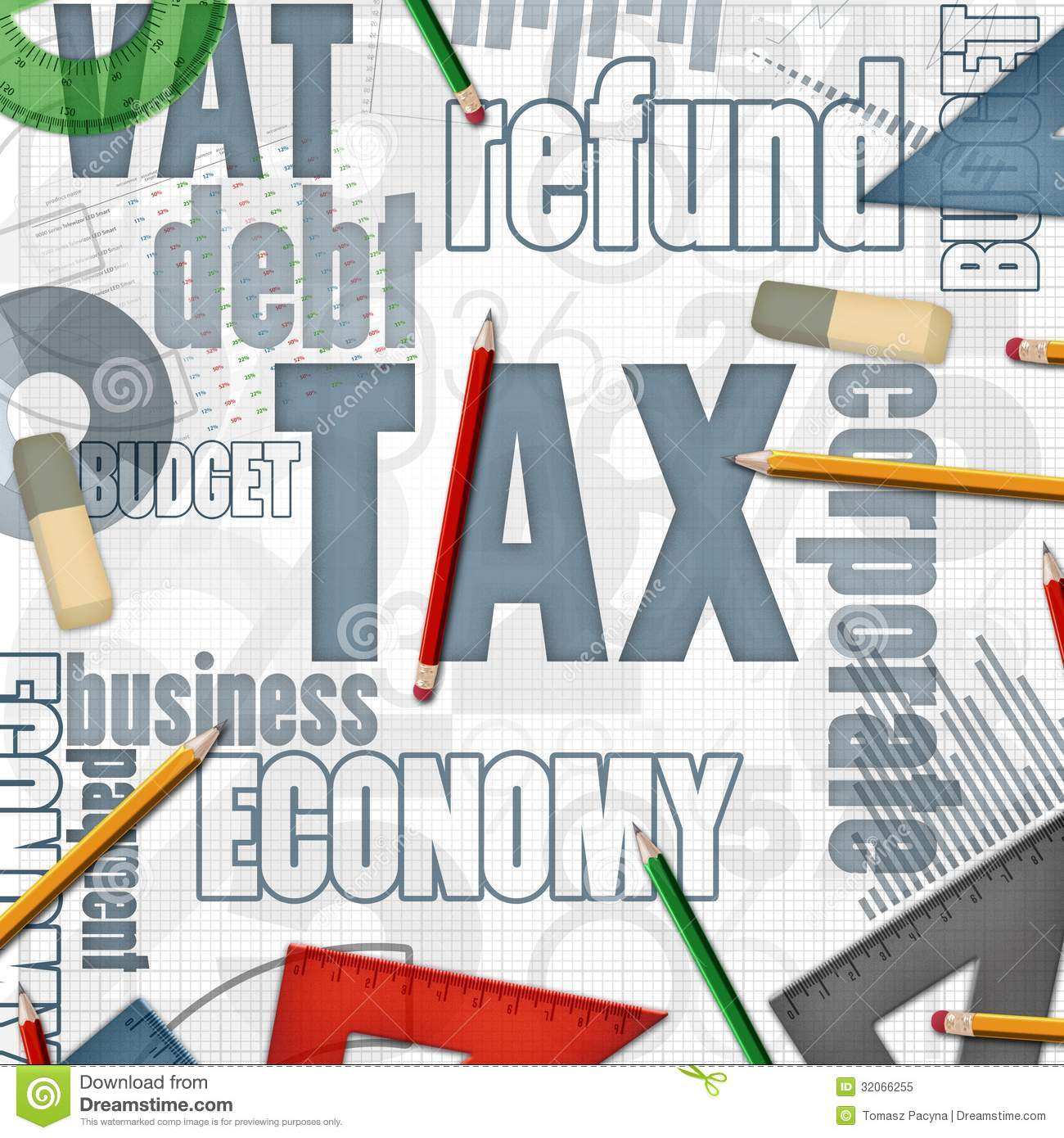 Tax Financial Business Background Royalty Free Stock Photo