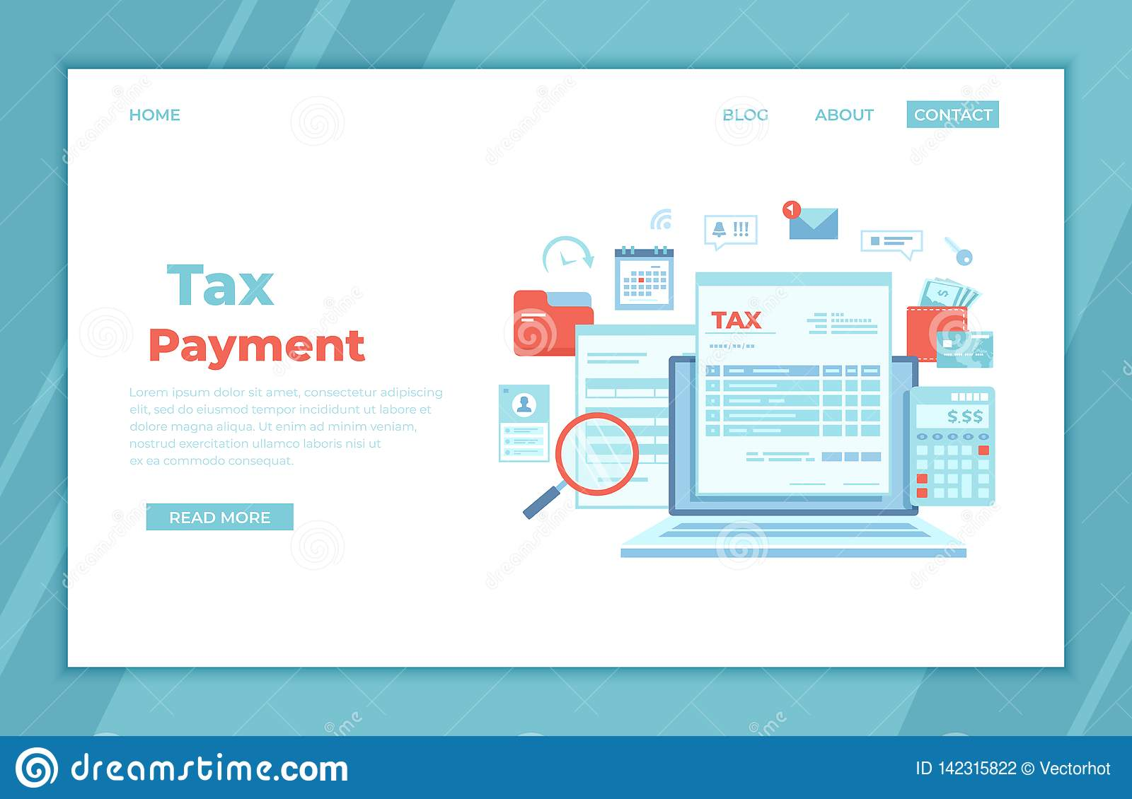State income tax is different from the federal income tax. Tax Payment State Government Taxation Calculation Of Tax Return Tax Form Financial Calendar Magnifying Glass Money Credit C Stock Vector Illustration Of Icon Financial 142315822