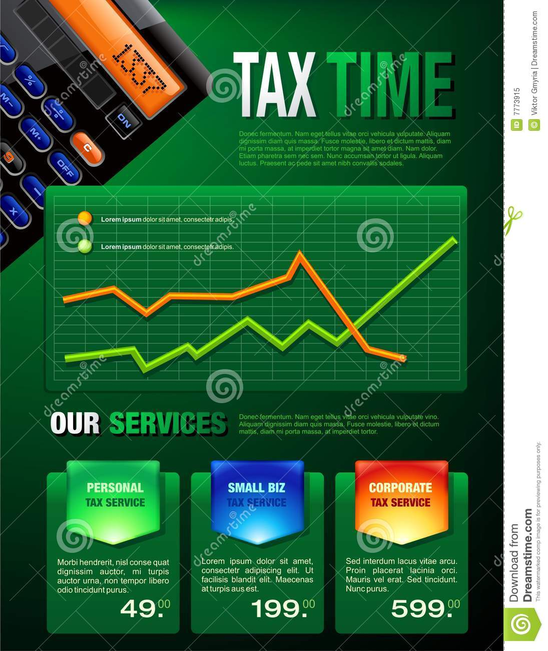 Tax Services Brochure Royalty Free Stock Photo Image 7773915