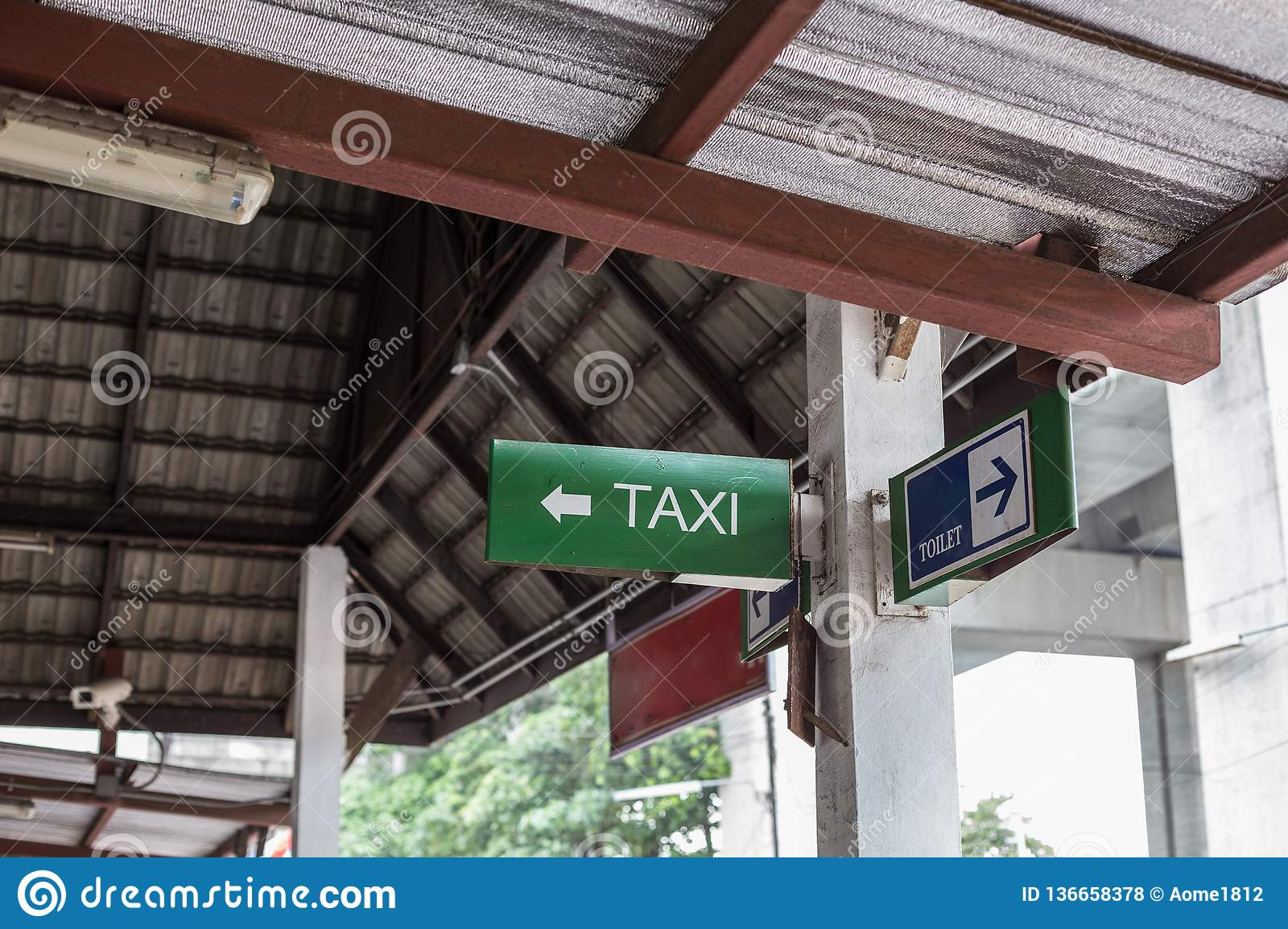 Sign For Bathroom Taxi Signs And Bathroom Signs Stock Photo Image Of People
