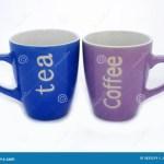 Tea And Coffee Mugs Stock Image Image Of Rejuvenate Addiction 5835519