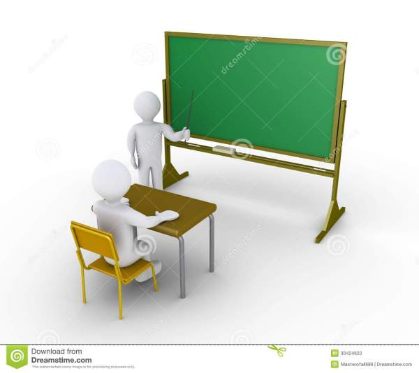 Teacher Instructions Student Stock Illustration