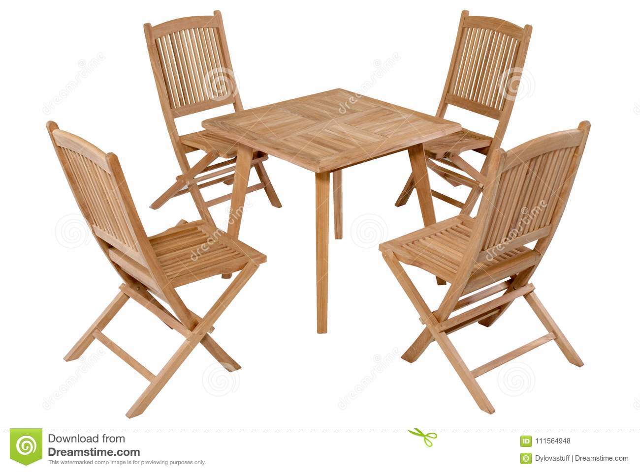 foldable table and chairs garden wedding chair covers gloucester teak folding furniture set stock