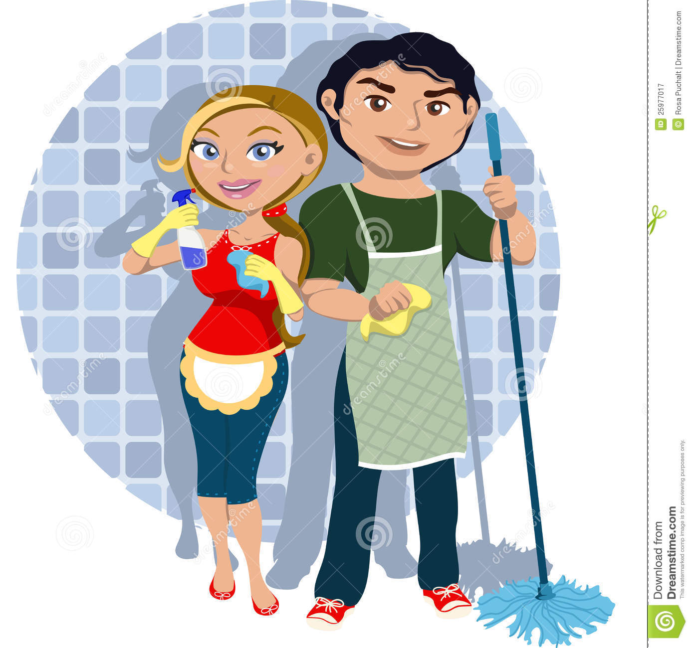 Team Cleaning Royalty Free Stock Photography  Image 25977017