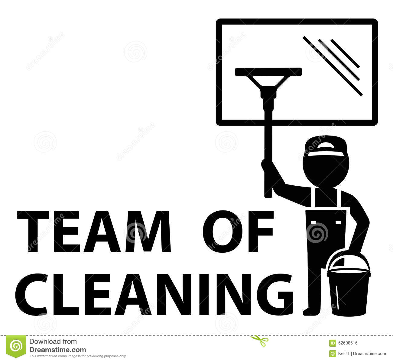 Team Of Cleaning Symbol Stock Illustration