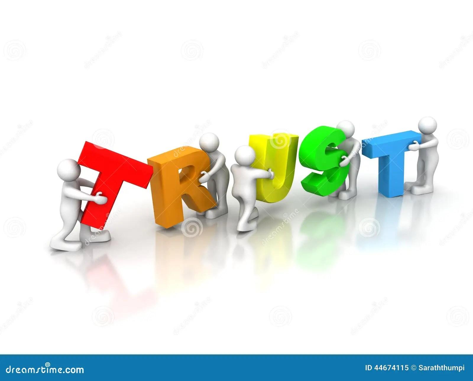 Team Forming Trust Stock Illustration