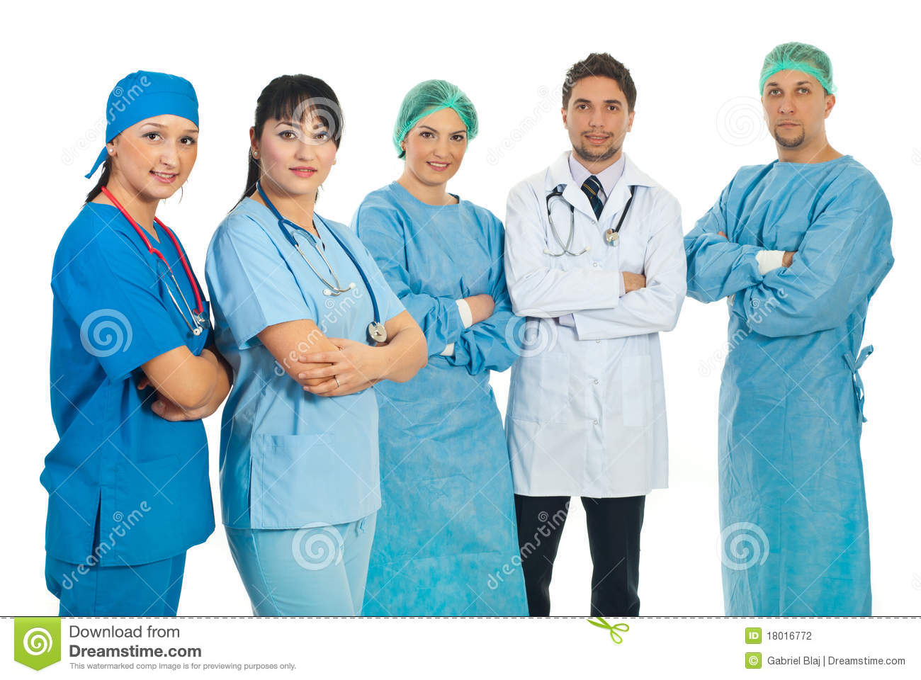 Team Of Health Care Workers Stock Photo