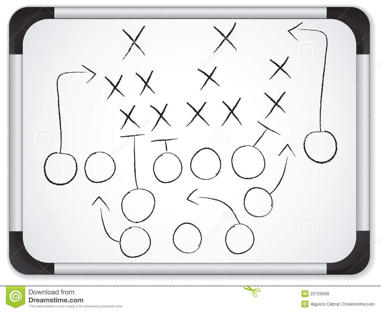 6 2 offense diagram trailer hitches teamwork football game plan on whiteboard royalty free stock images - image: 20729569