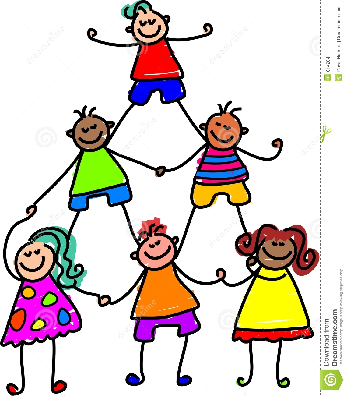 Teamwork Kids Stock Images
