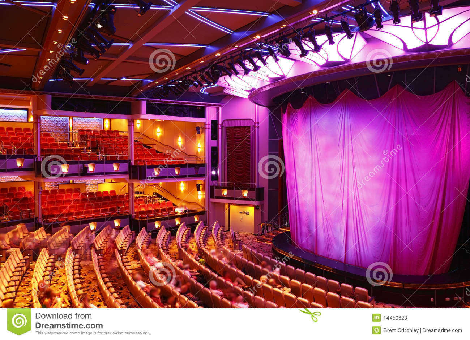 Teatro moderno foto de archivo Imagen de hospitalidad  14459628