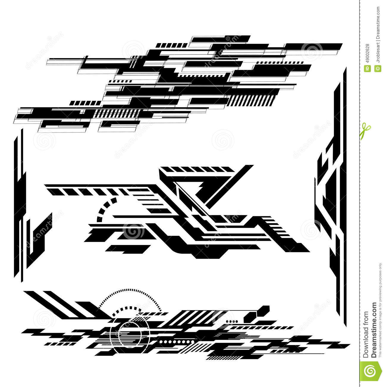 Tech Shapes 1 stock vector. Illustration of graphic