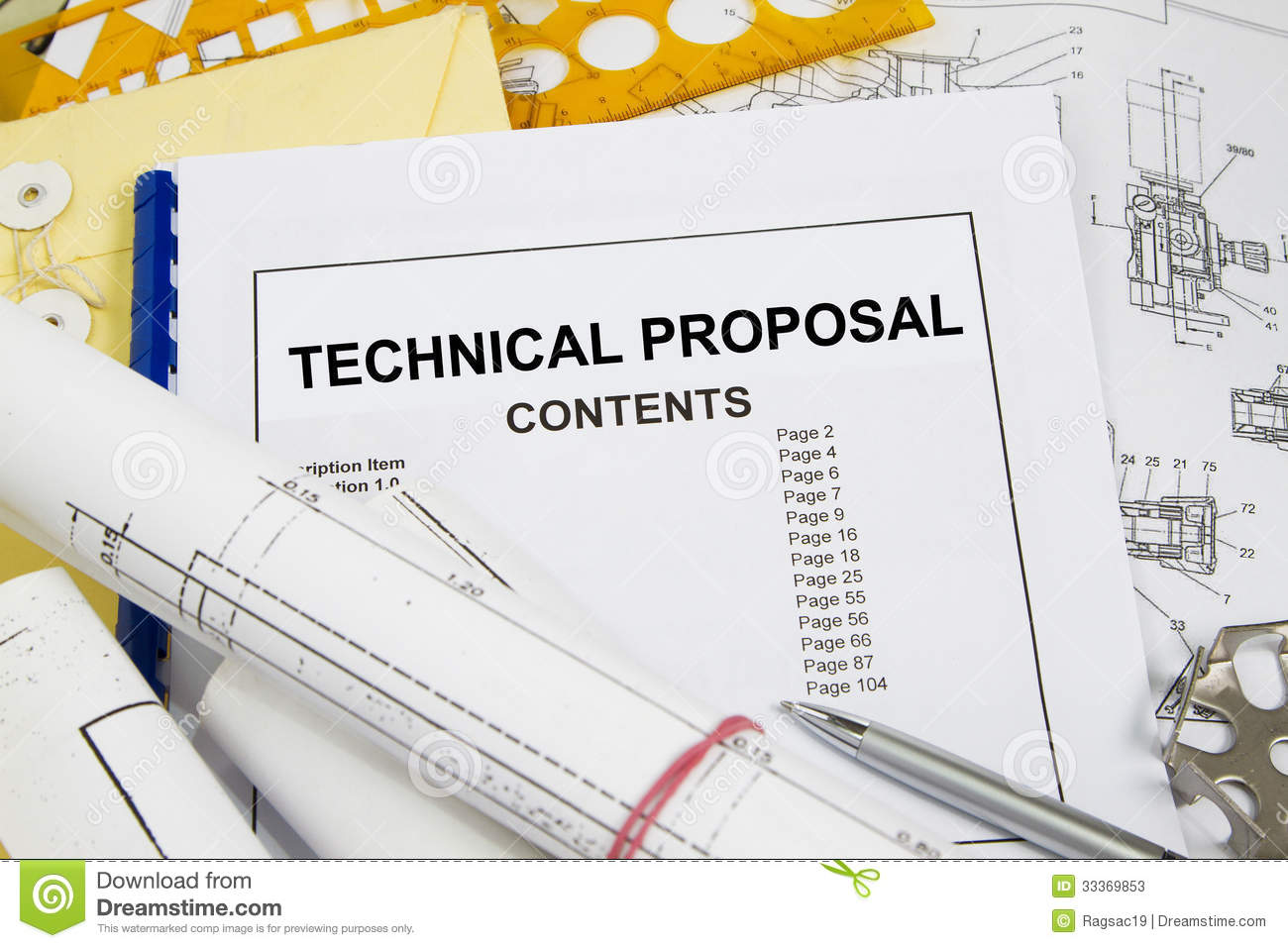 Technical Proposal Stock Image Image Of Technology