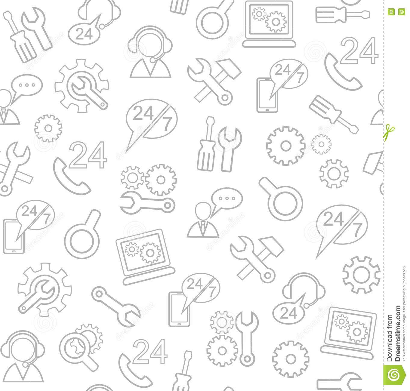 Technical Support And Repair, Seamless White Background