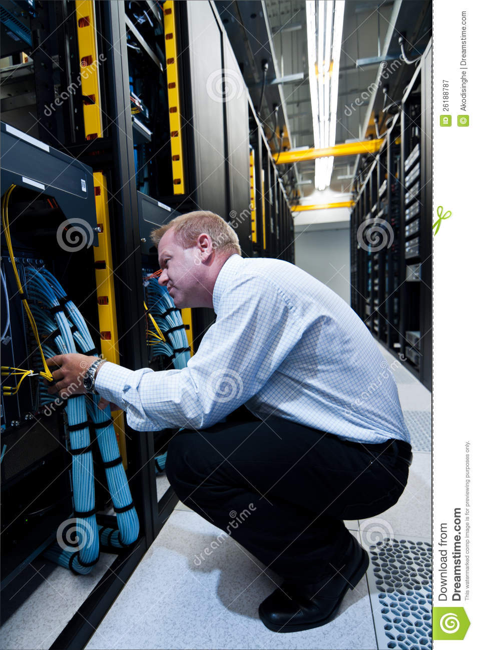 Technician Working At Electrical Cabinet Stock Photography Image