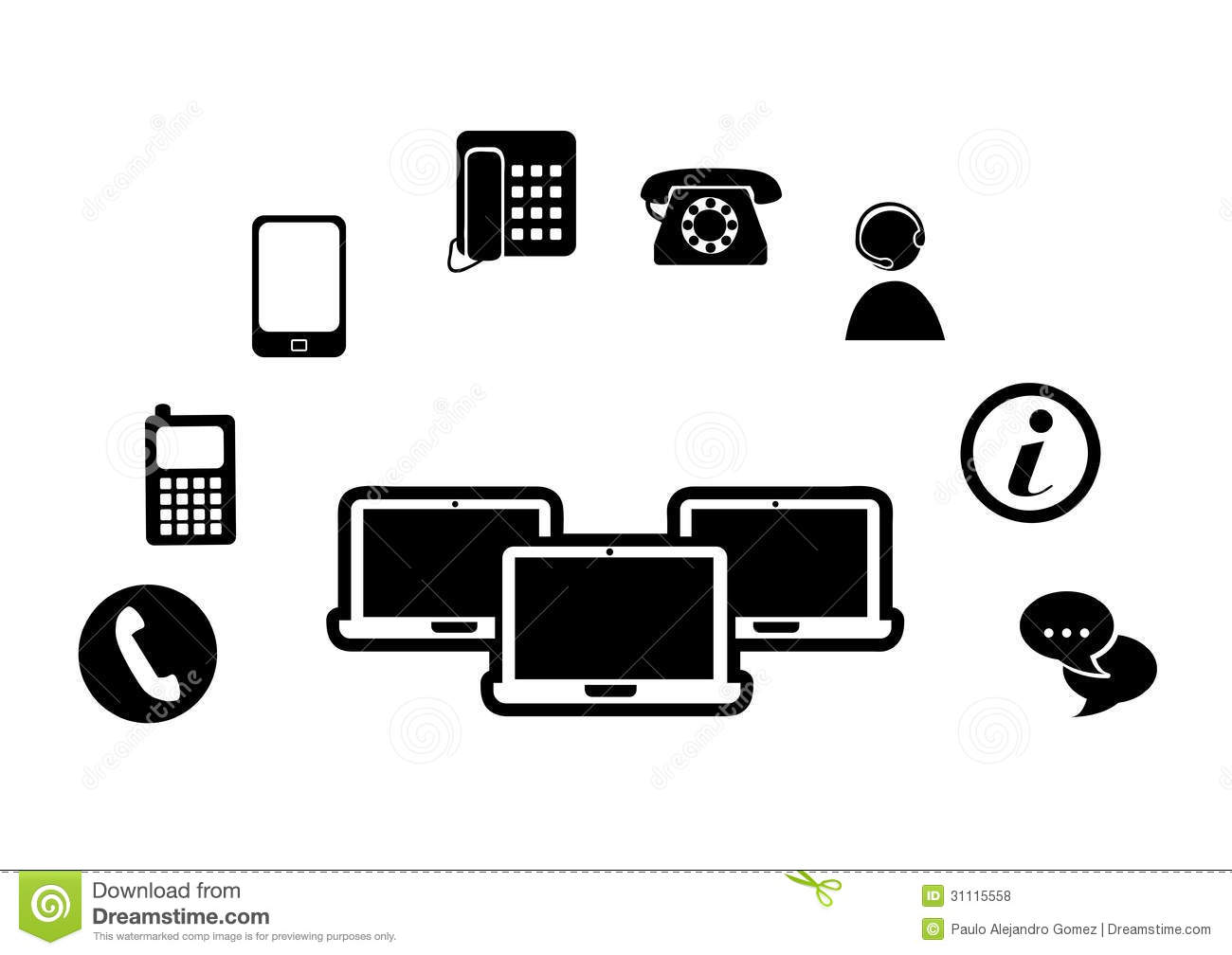 Technological Silhouette Royalty Free Stock Photos
