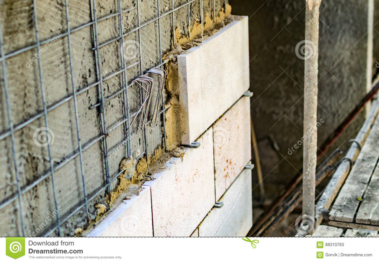 technology installing marble tile stock image image of background cement 88310763