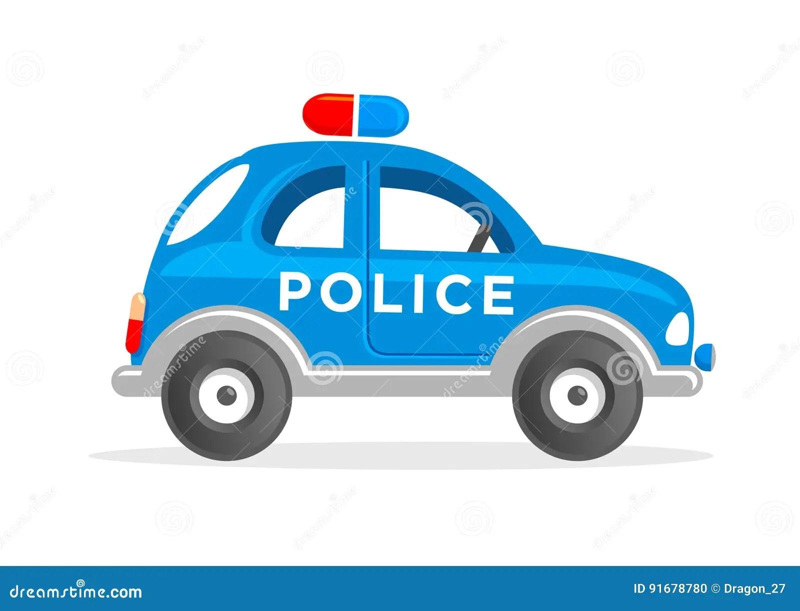 vehicle diagram clip art 3 phase forward reverse switch wiring tecknad film toy police car vector illustration vektor