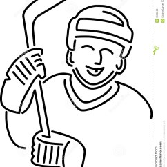 Hockey Player Diagram 5 Pin Mini Usb Wiring Tecknad Filmhockeyspelare Stock Illustrationer