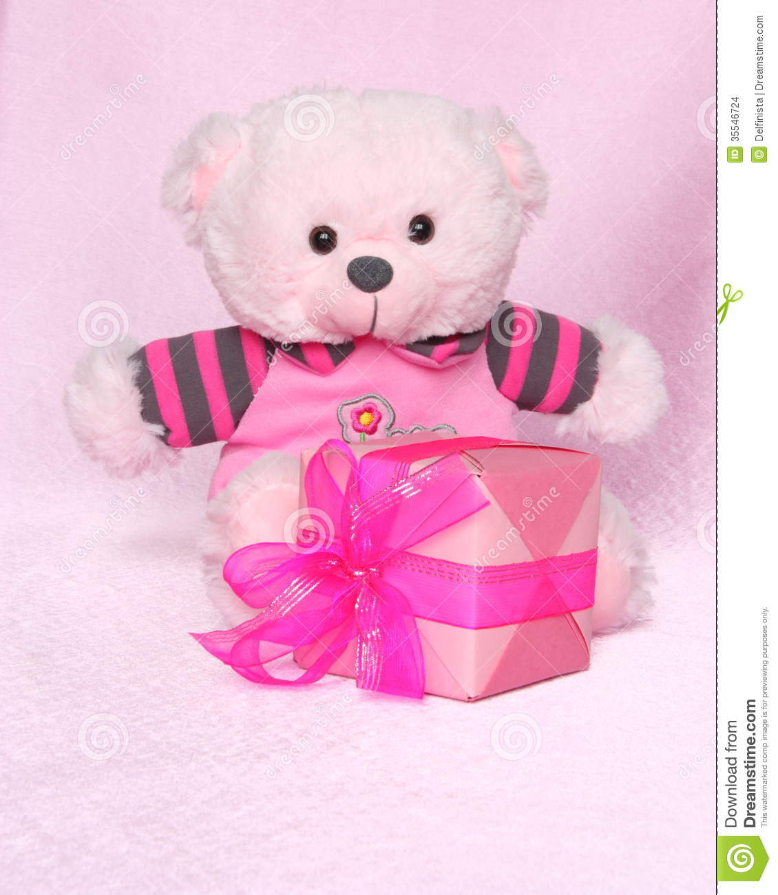 Cute Love Teddy Bears Wallpapers Teddy Bear With Gift Valentines Day Stock Photos Stock