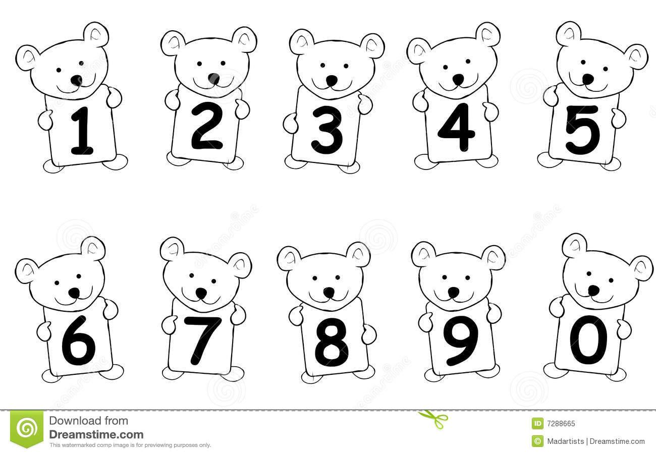 Teddy Bear Numbers Royalty Free Stock Photo