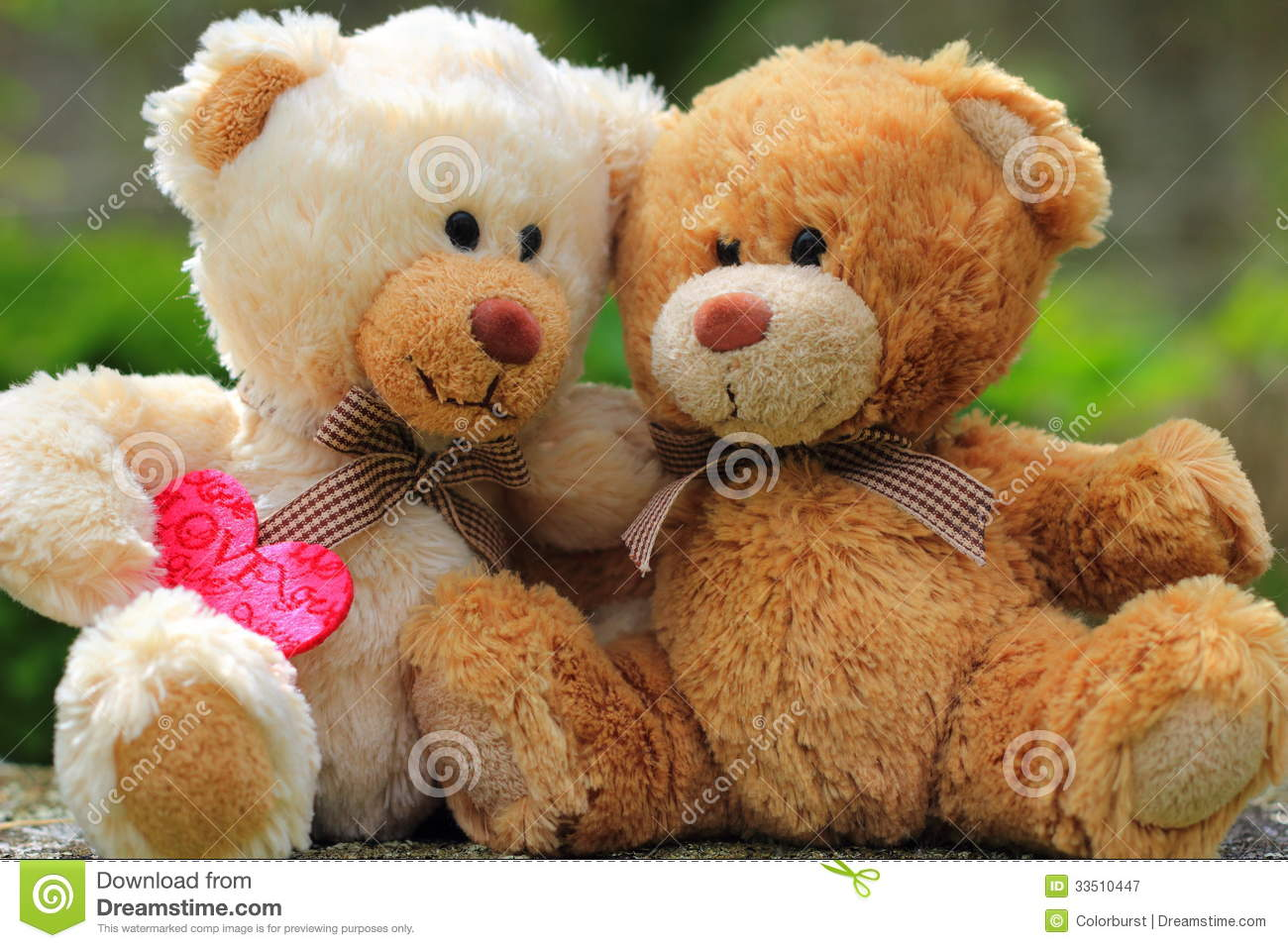 Teddy Bears In Love Royalty Free Stock Photography Image