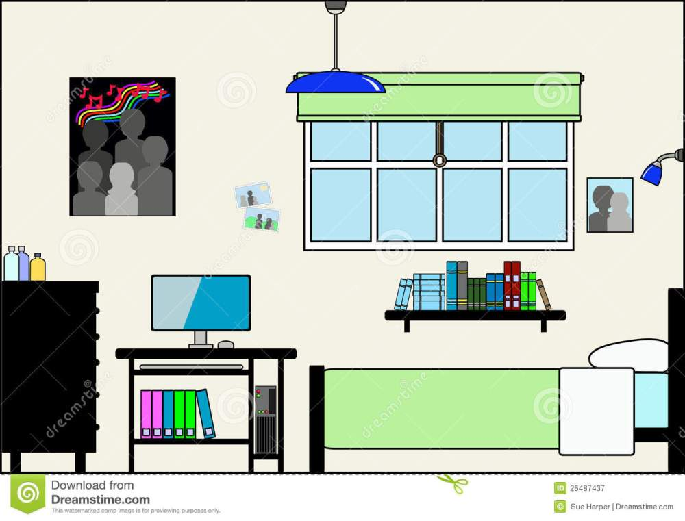medium resolution of teen bedroom with furniture and fittings