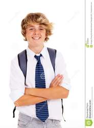 boy student teen crossed arms happy royalty dreamstime male preview