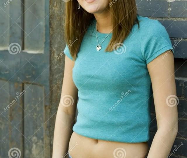 A Beautiful Brunette Teen Female Fashion Model