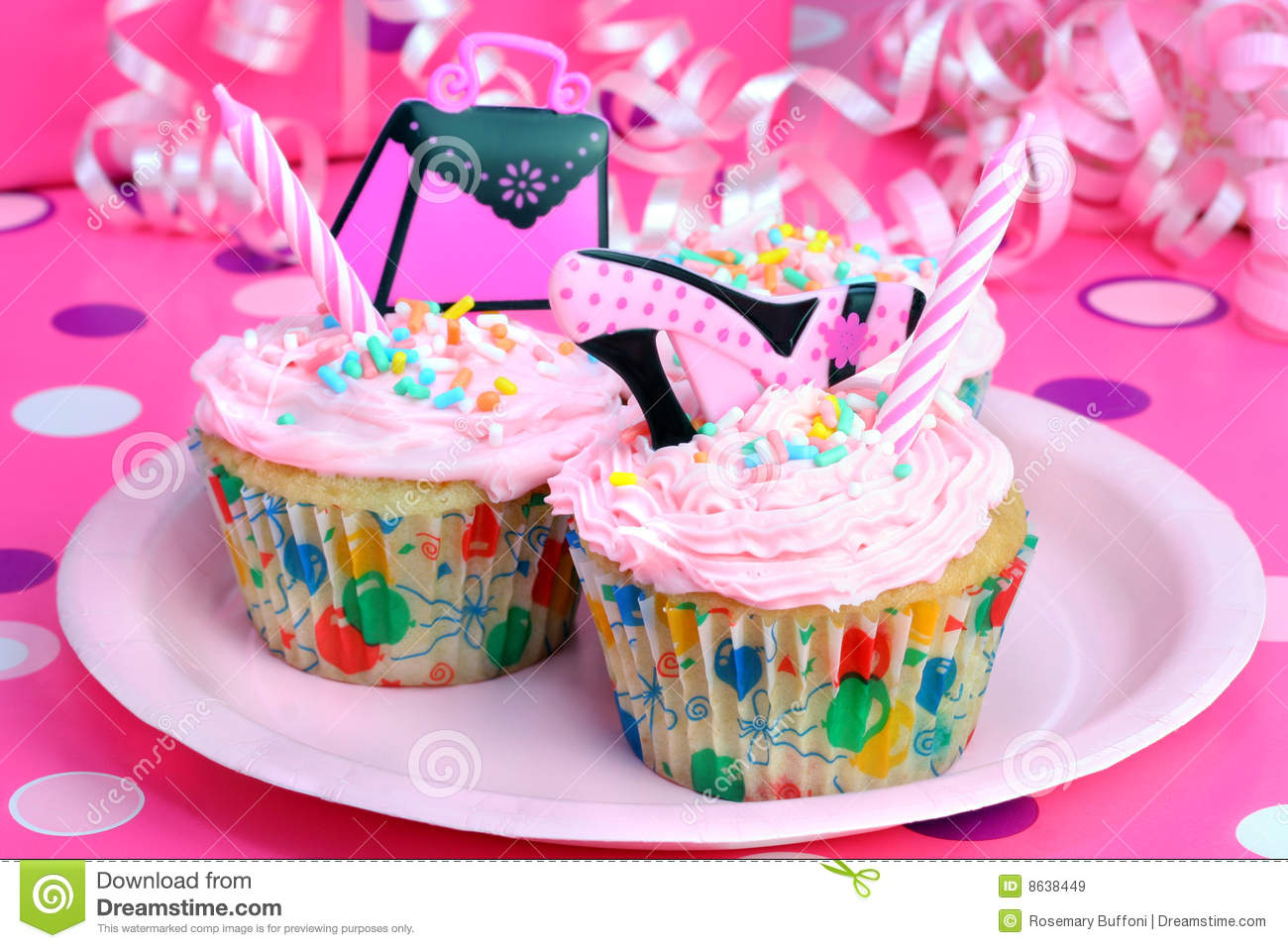 Teen Party Cupcakes Royalty Free Stock Images Image 8638449