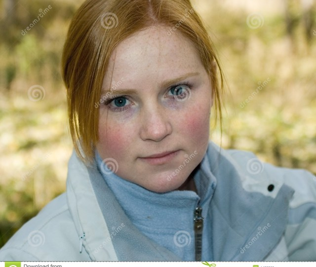 Teen With Rosy Cheeks