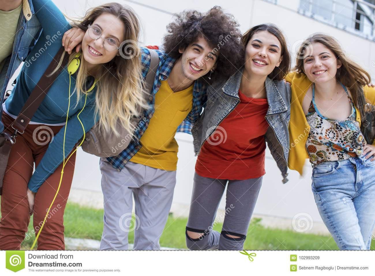 Teenagers Friends Friendship Students Concept Stock Image