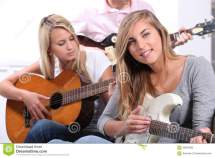 Teenagers Playing Guitar Royalty-free Stock