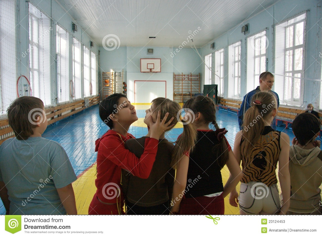 Teenagers At School In Physical Education Editorial Stock