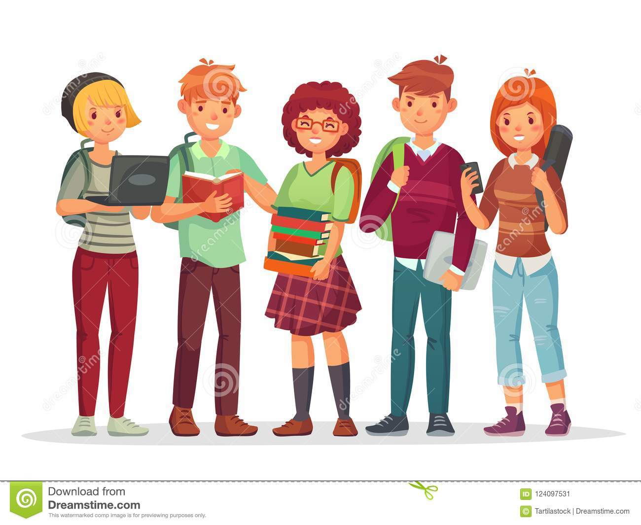 Teenagers Students Group Young Teens Highschool Student