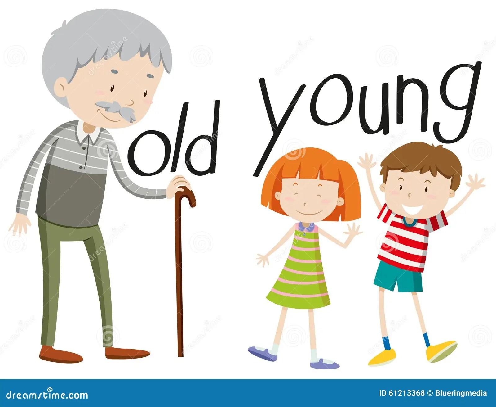 Tegenovergestelde Oud En Jonge Bijvoeglijke Naamwoorden