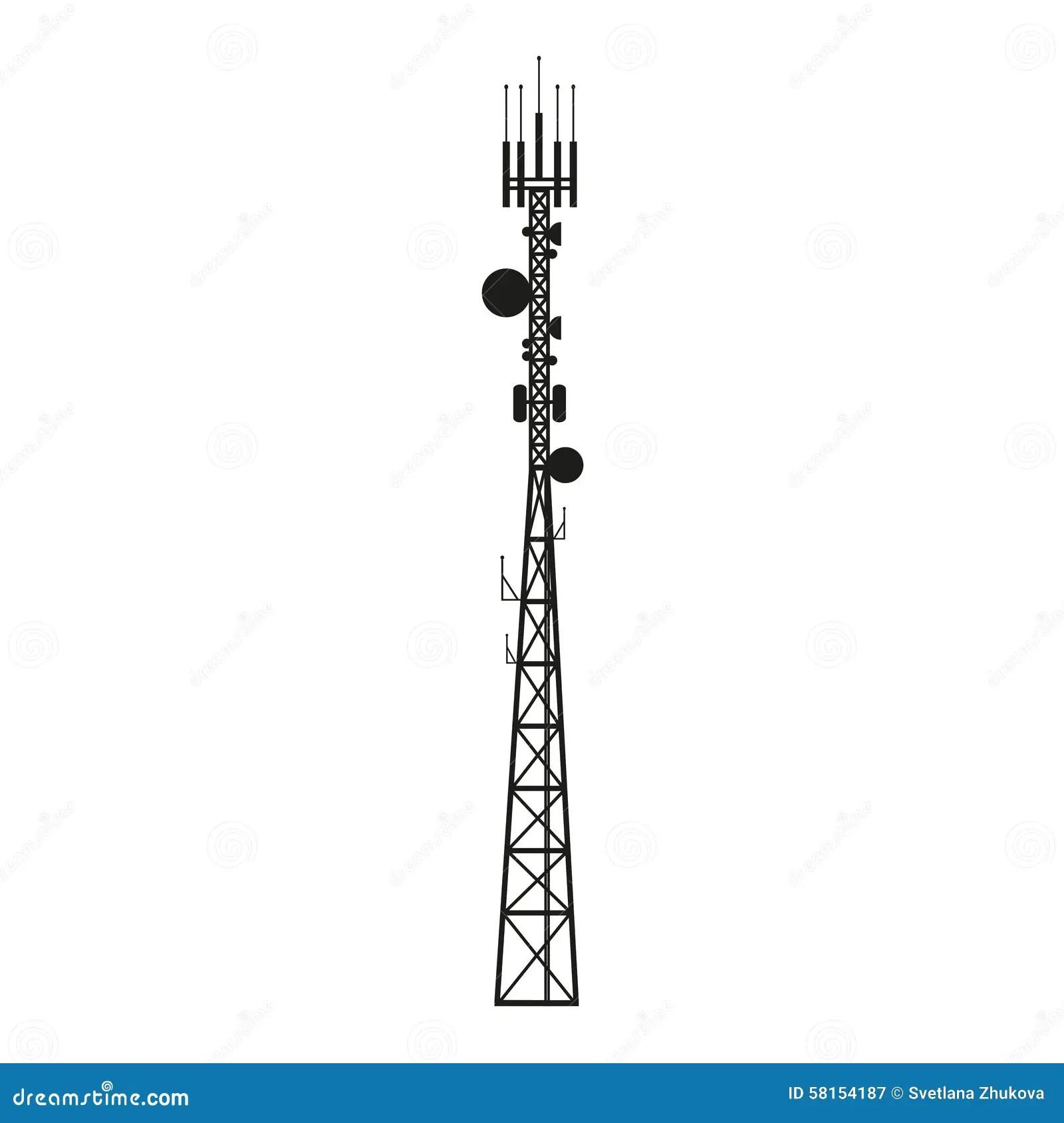 cellular phone tower signal diagram 94 cherokee radio wiring telecommunication antenna mast or mobile stock