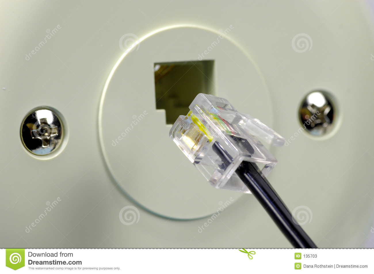 rj12 wiring diagram shed roof telephone jack stock photos - image: 135703