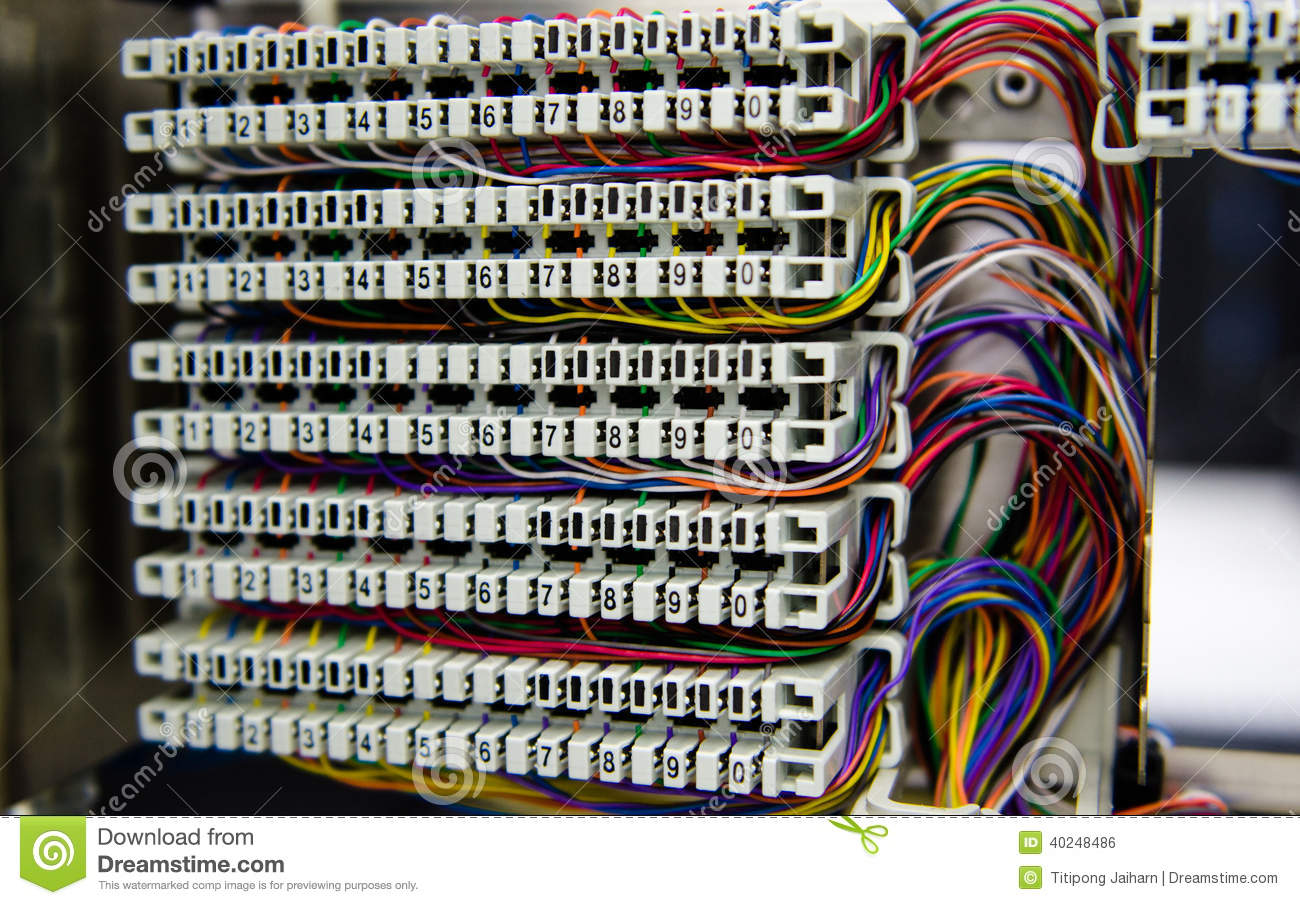 hight resolution of telephone switchboard panel and wiring stock photo image of breaker panel wiring diagram telephone switchboard panel