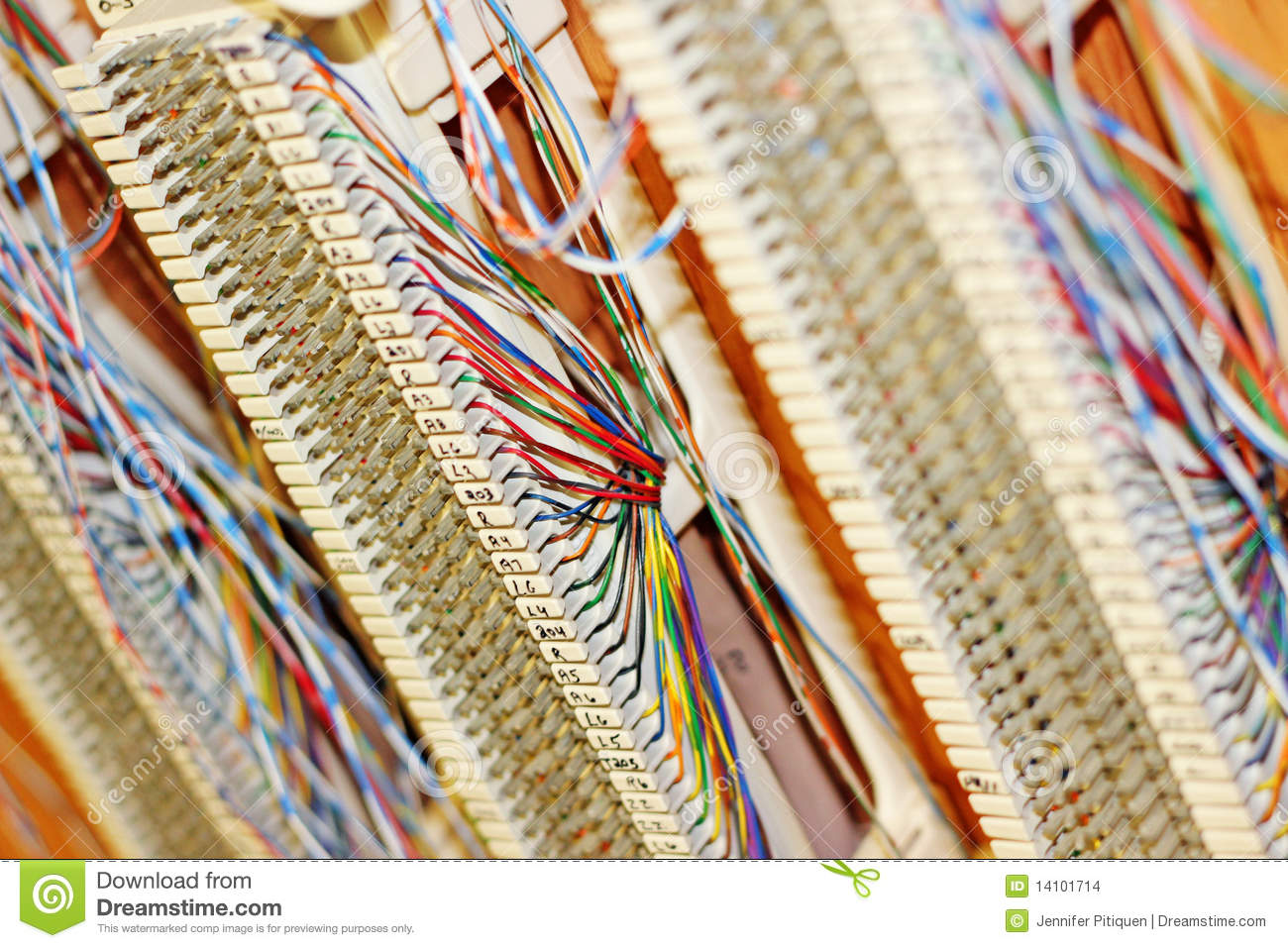 hight resolution of telephone wiring