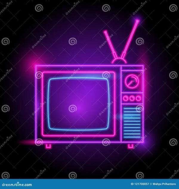 Air Broadcast Radio Neon Sign Vector Illustration