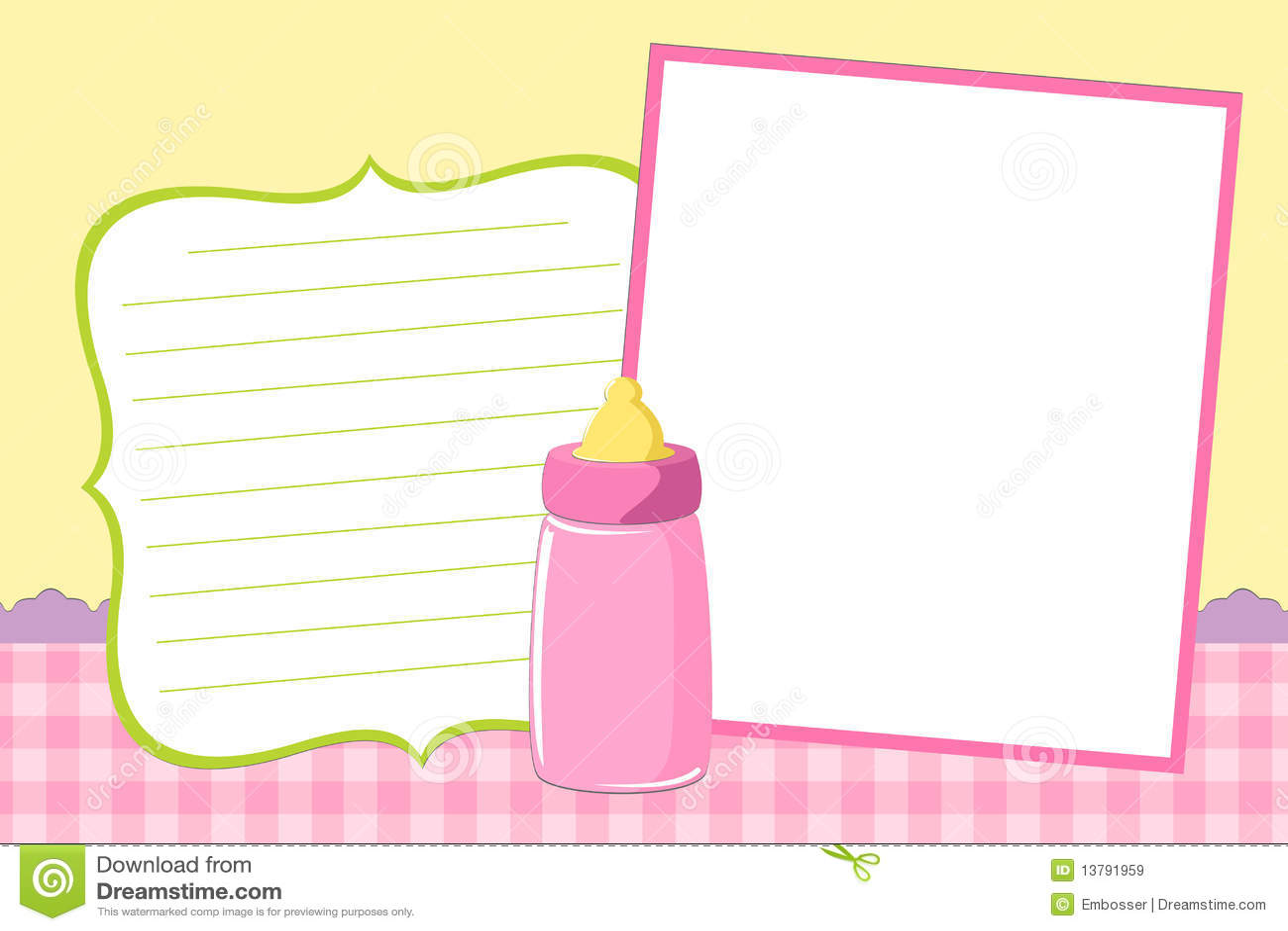 Template For Baby S Photo Album Stock Vector