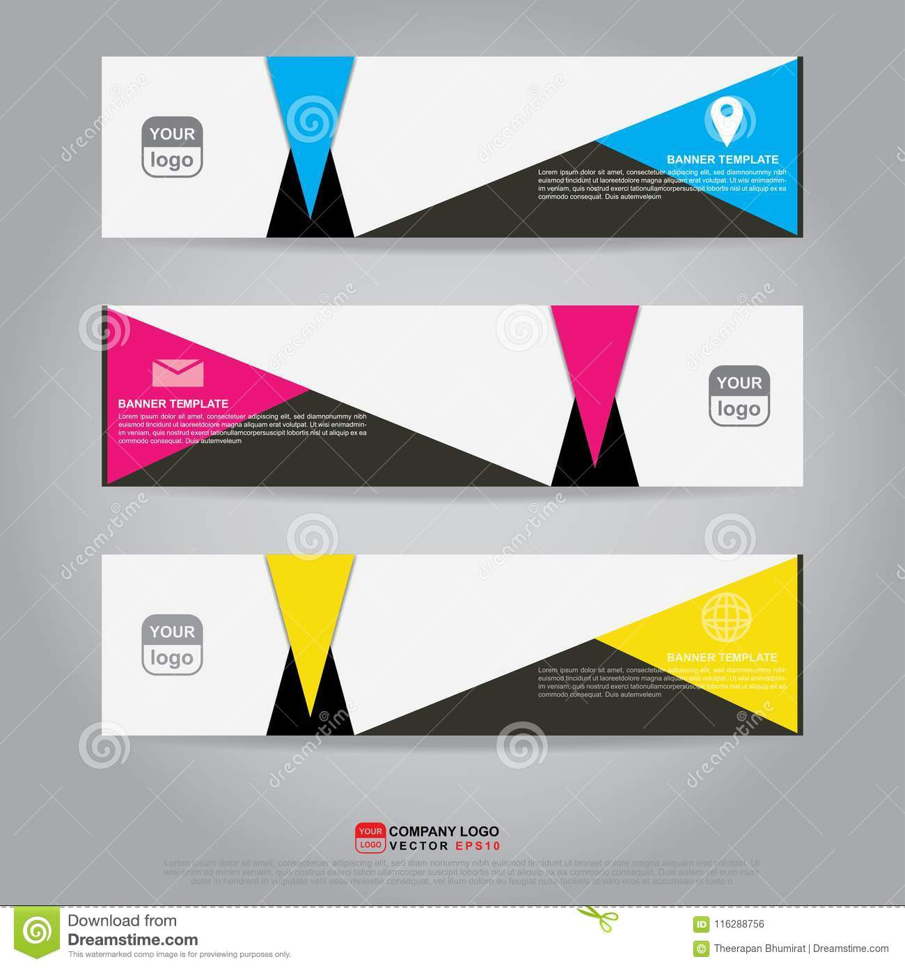 template of banner brochure