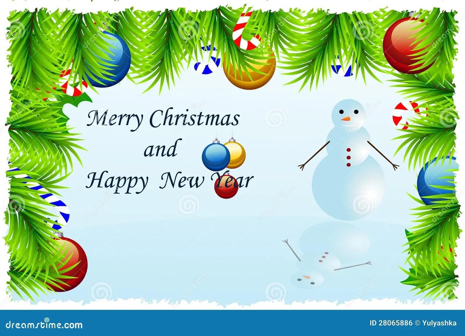 Template Christmas Greeting Card Stock Vector