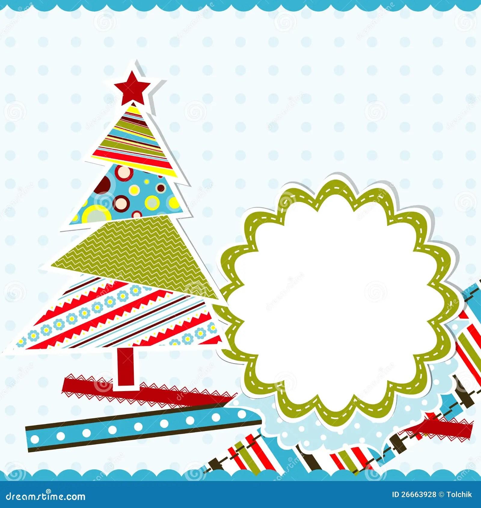 Template Christmas Greeting Card Vector Stock Vector