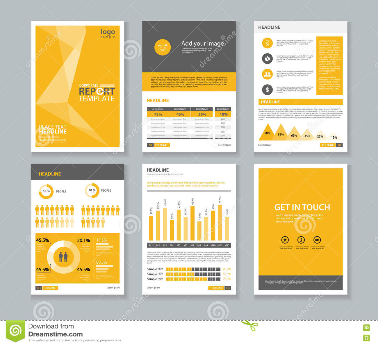 Template Company Profile Annual Report Brochure Flyer