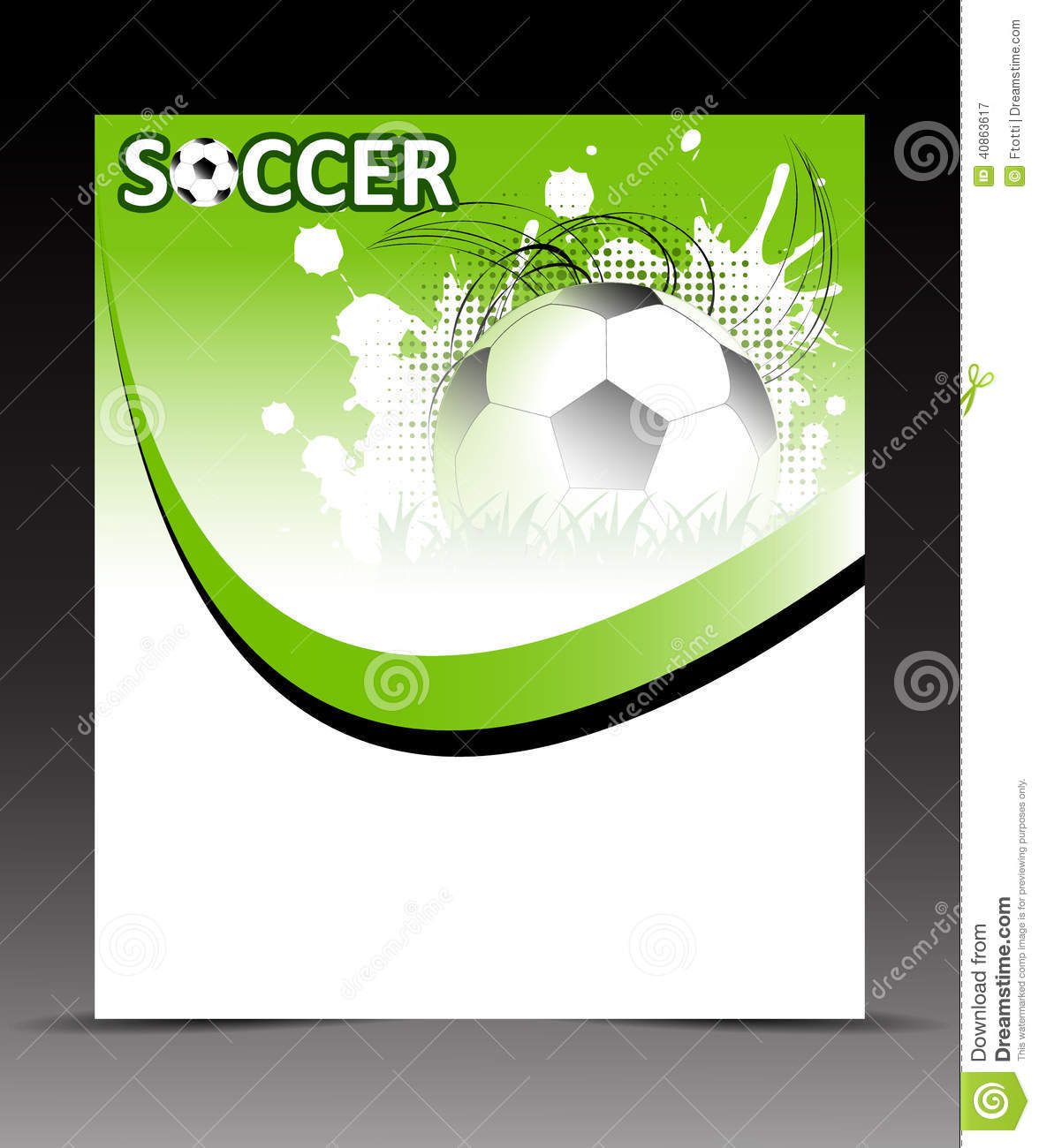 Football Flyer Templates Microsoft Word Commonpenceco Template Flyer Soccer  Ball Abstract Background Design Place Your Content